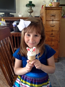 Bunny Cupcakes in a Cone