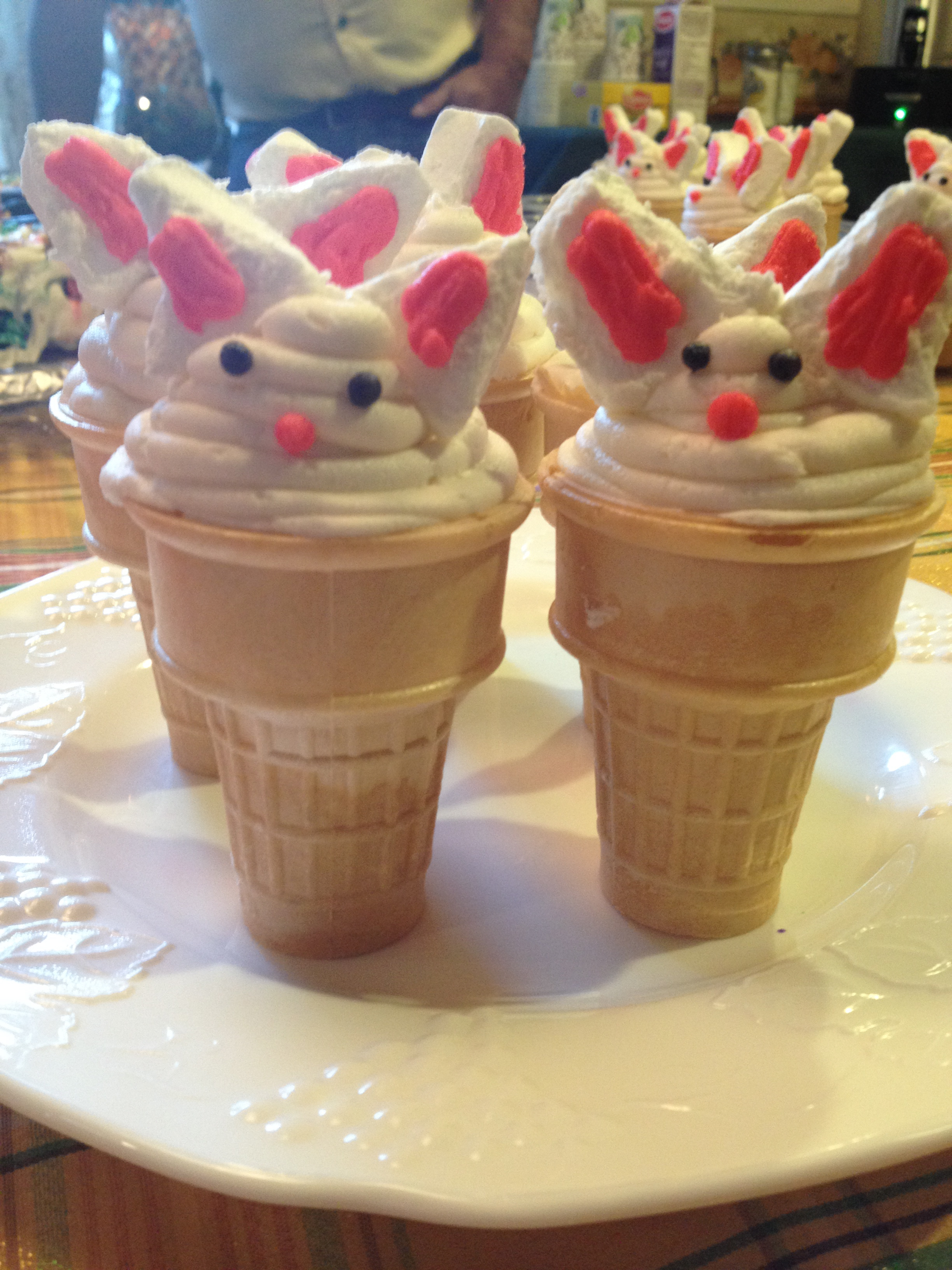 Bunny cupcakes in a cone mommy day by day for What is the easter bunny s phone number