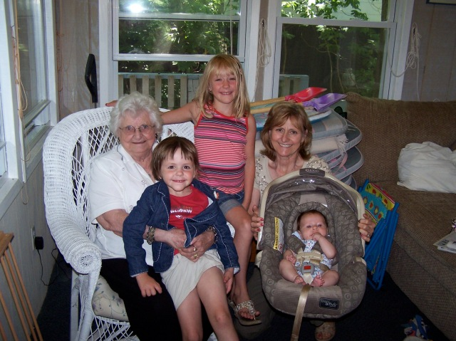 The luckiest little girls to have a grandma and great-grandma